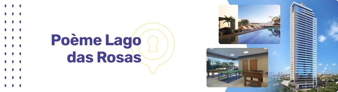 Apartamento à venda em Goiânia no Setor Oeste - Empreendimento Poème Lago das Rosas da Construtora Dinâmica - Fachada