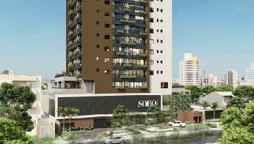Apartamento à venda em Goiânia no Setor Bueno - Empreendimento Soho Bueno da Construtora WV Maldi - Fachada