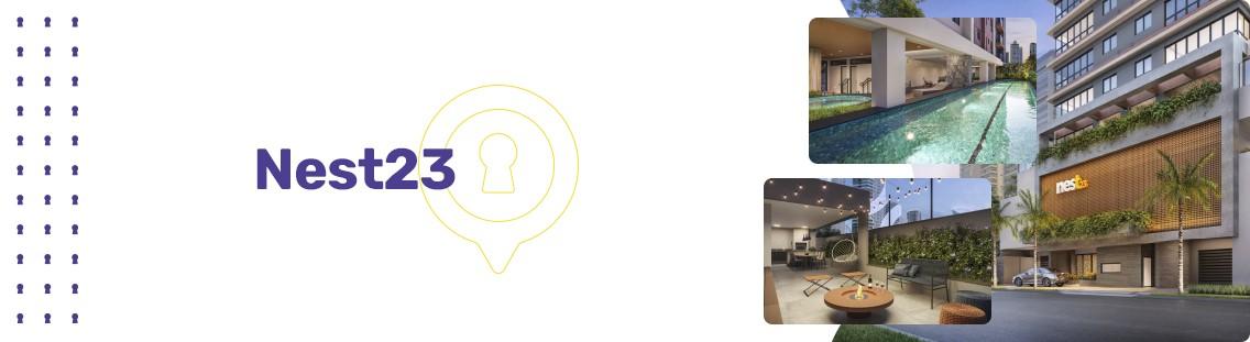 Apartamento à venda em Goiânia no Setor Bueno - Empreendimento Nest23 da Construtora Terral - Fachada