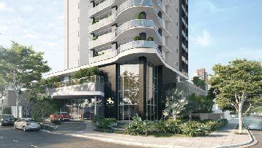 Apartamento à venda em Goiânia no Setor Oeste - Empreendimento The Sun Luxury Style da Construtora EBM - Fachada