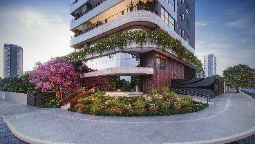 Apartamento à venda em Goiânia no Setor Oeste - Empreendimento Vogue Alameda da Construtora City - Fachada