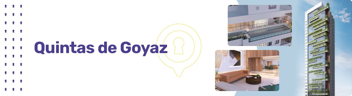 Apartamento à venda em Goiânia no Setor Marista - Empreendimento Quintas de Goyaz da Construtora Grupo CF - Fachada