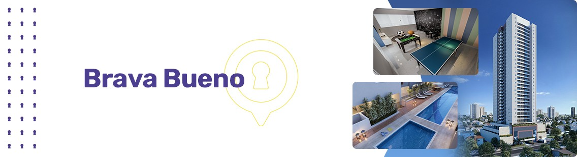 Apartamento à venda em Goiânia no Setor Bueno - Empreendimento Brava Bueno da Construtora CMO - Fachada