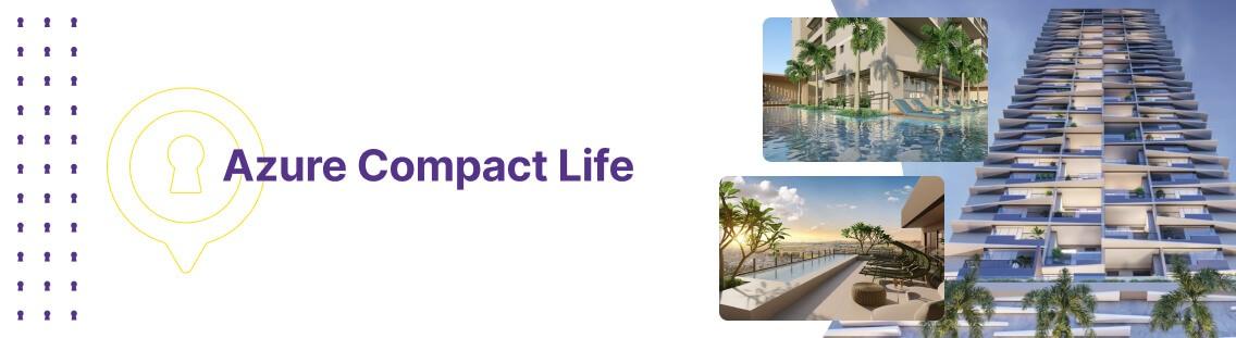 Apartamento à venda em Goiânia no Setor Marista - Empreendimento Azure Compact Life da Construtora City - Fachada (Capa Desktop)