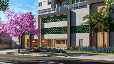 Apartamento à venda em Goiânia no Setor Bela Vista - Empreendimento Wish Bella Vista da Construtora EBM - Fachada (Card)