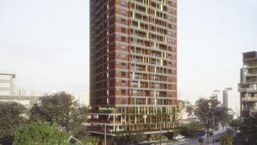 Apartamento à venda em Goiânia no Setor Oeste - Empreendimento Lina Praça do Sol da Construtora FR Incorporadora - Fachada (Card)