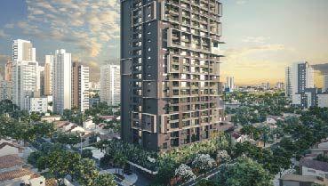 Apartamento à venda em Goiânia no Setor Bueno - Empreendimento Hub da Construtora City - Fachada