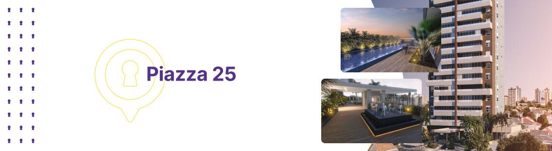 Apartamento à venda em Goiânia no Setor Bueno - Empreendimento Piazza 25 da Construtora City - Fachada
